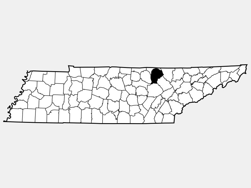 Fentress County locator map