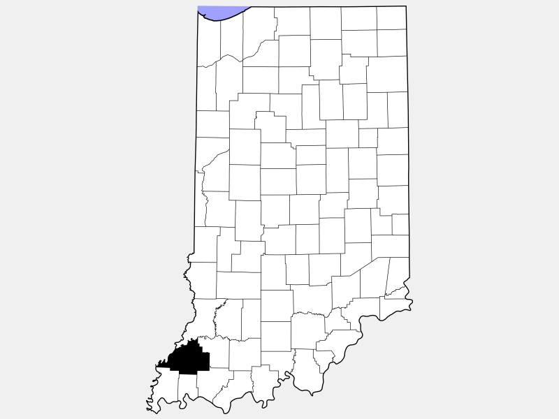 Gibson County, TN locator map