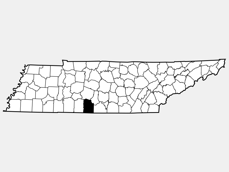 Giles County location map