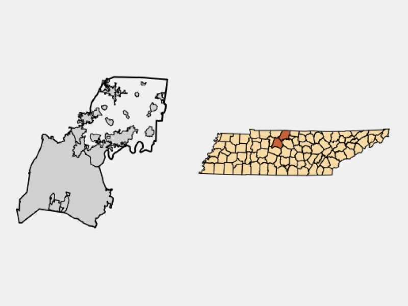 Goodlettsville locator map