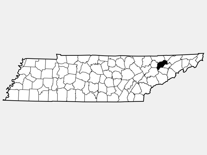 Grainger County locator map