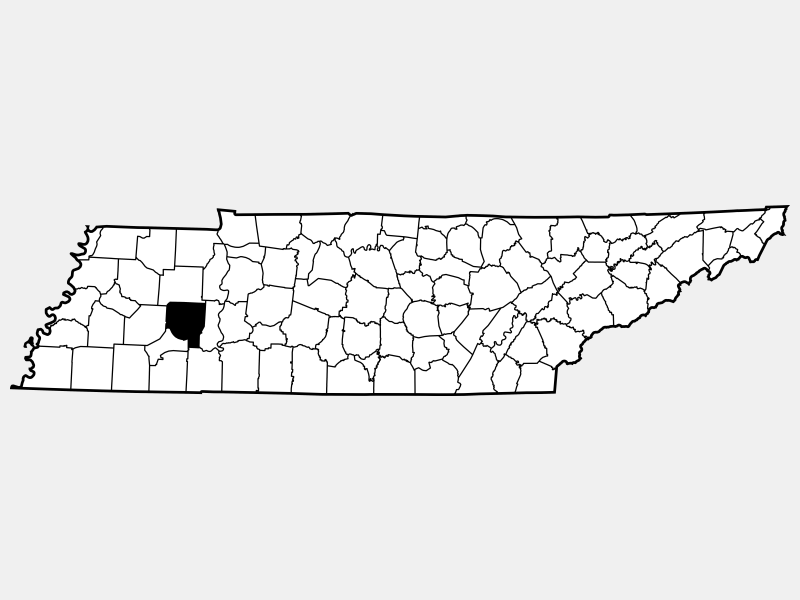 Henderson County locator map