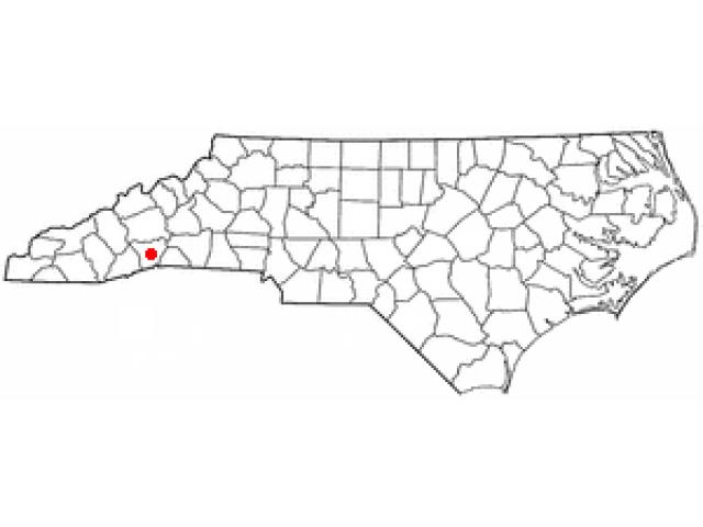 Hendersonville locator map