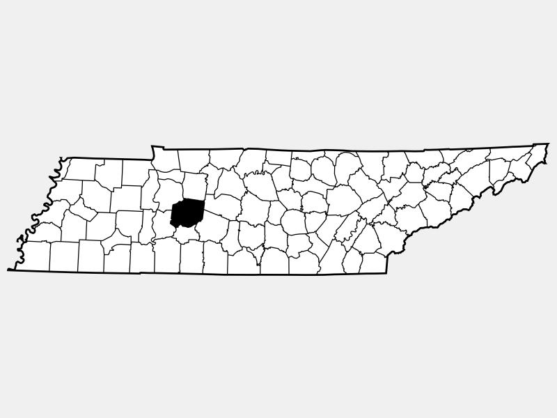 Hickman County locator map