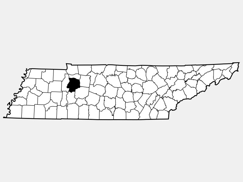 Humphreys County locator map