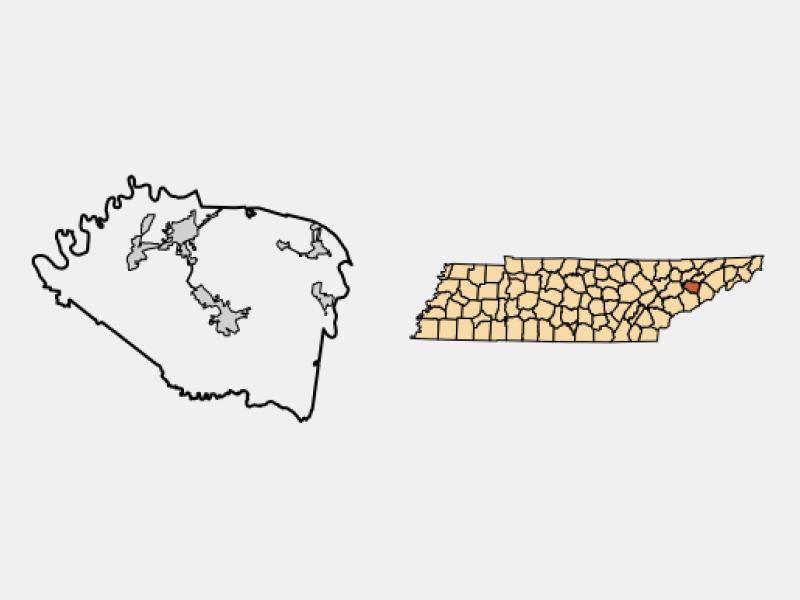 Jefferson City locator map
