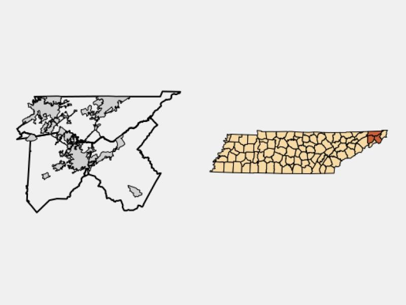 Johnson City locator map