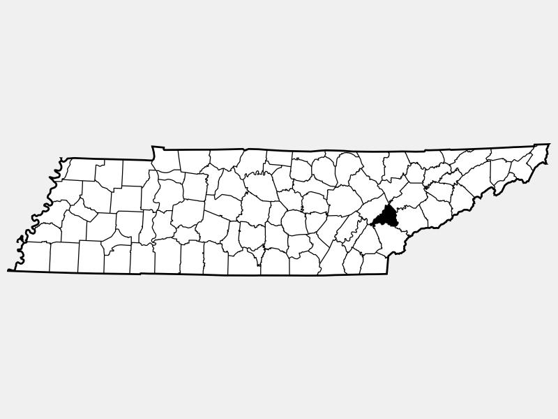 Loudon County locator map