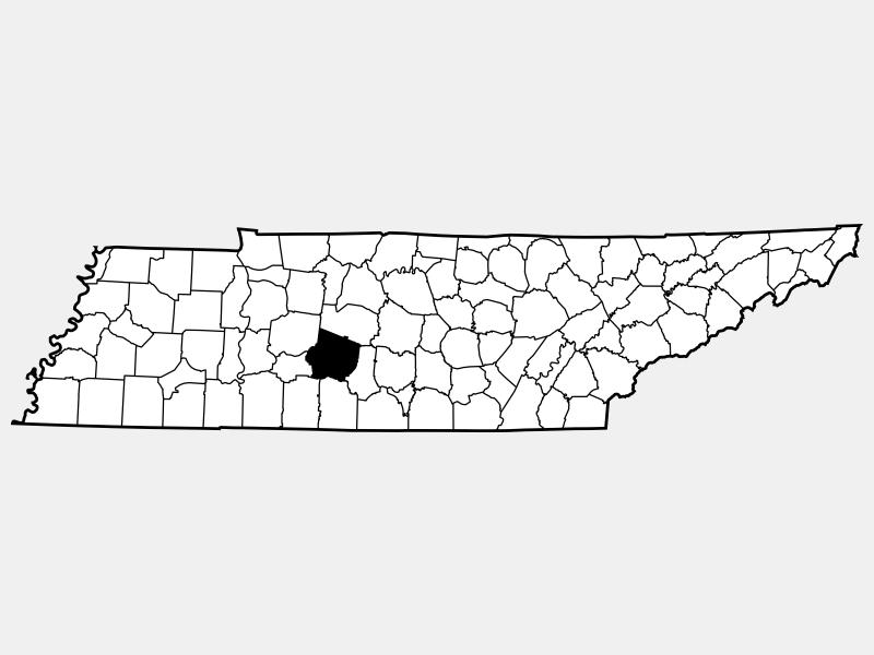 Maury County locator map