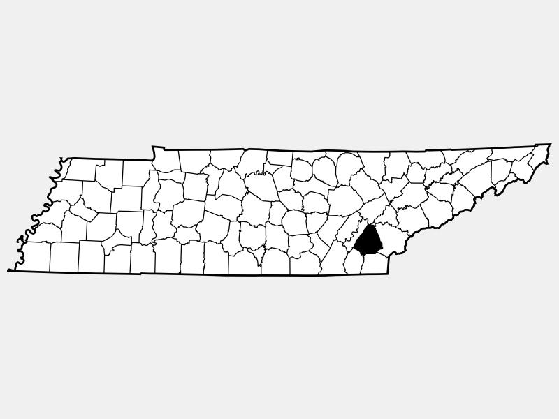 McMinn County locator map