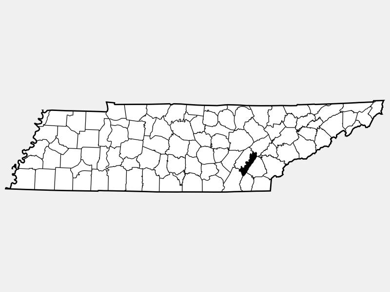 Meigs County locator map