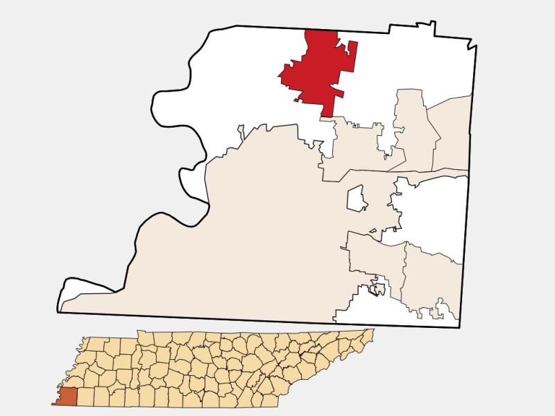 Millington locator map