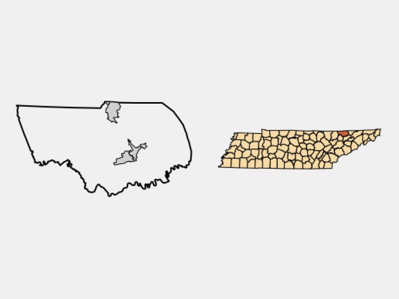 New Tazewell locator map