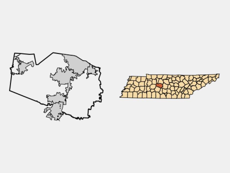 Nolensville locator map