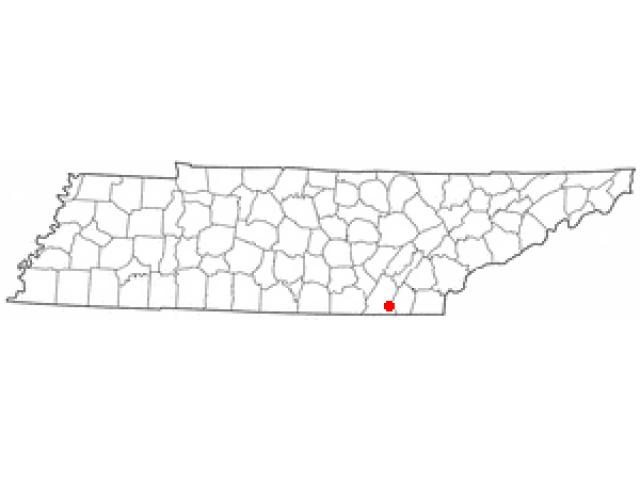 Ooltewah locator map