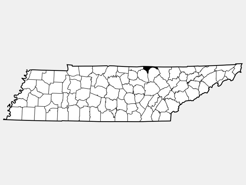 Pickett County locator map