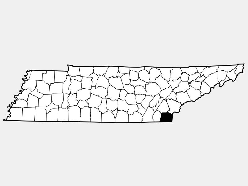 Polk County locator map