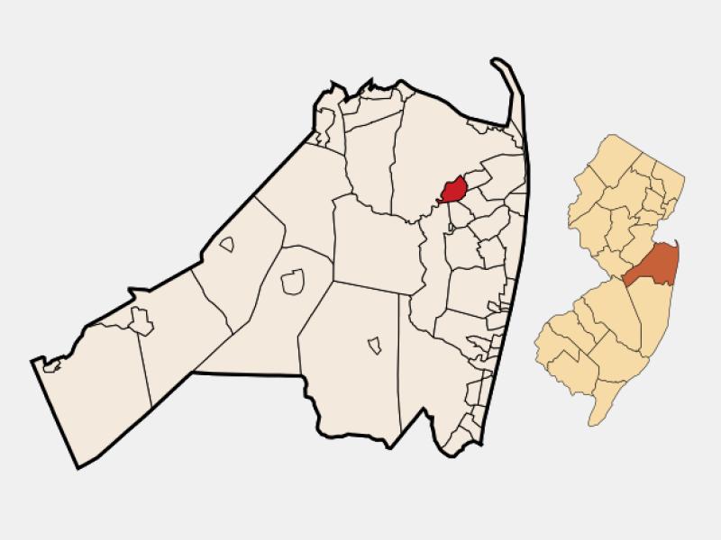 Red Bank locator map
