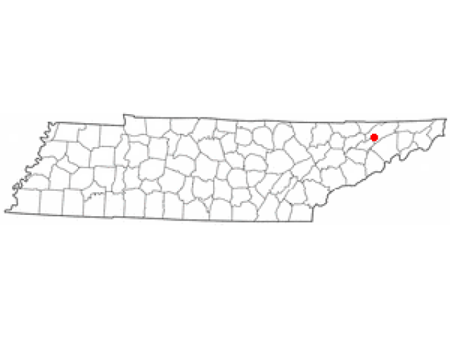 Rogersville locator map