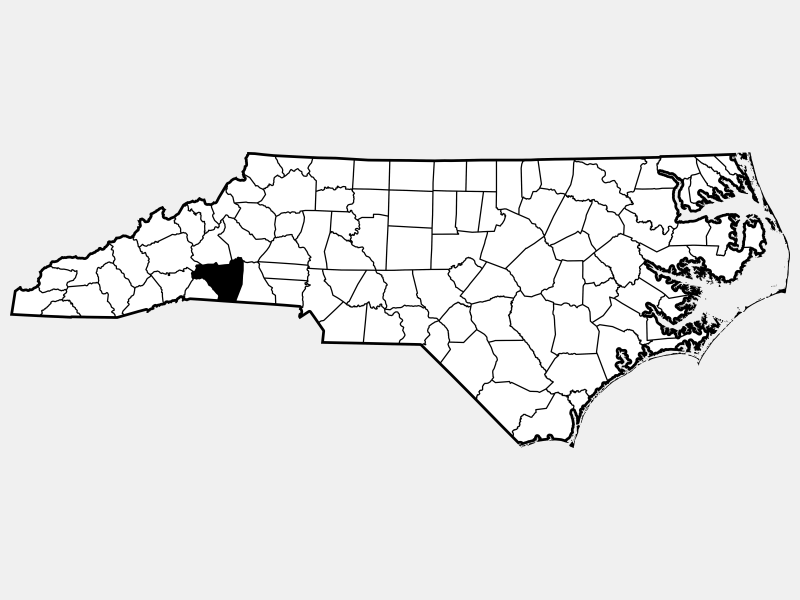 Rutherford County locator map