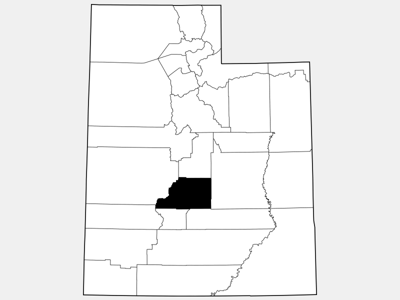 Sevier County locator map
