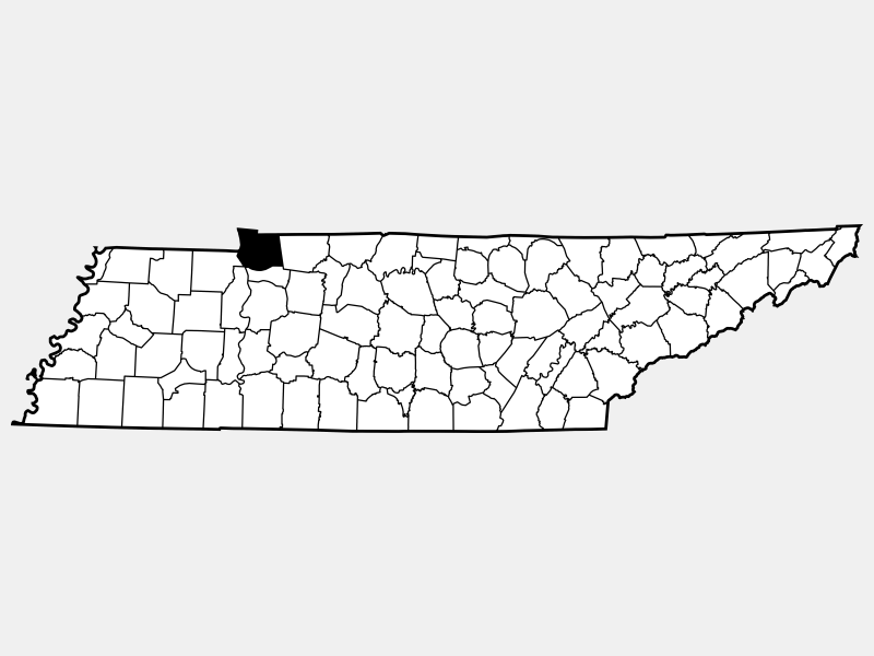 Stewart County locator map