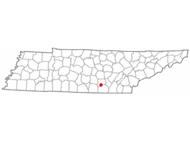 Tracy City locator map