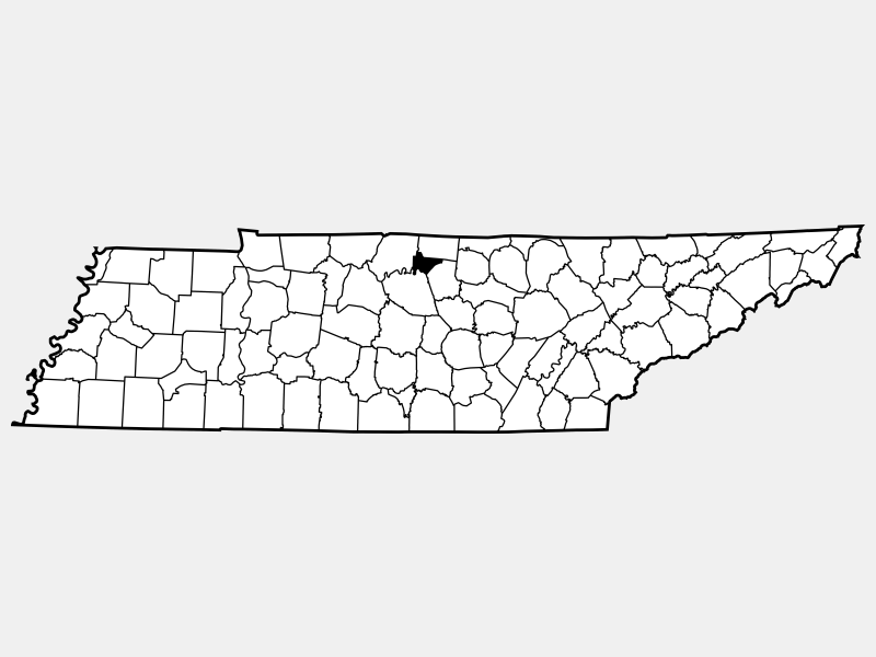 Trousdale County locator map