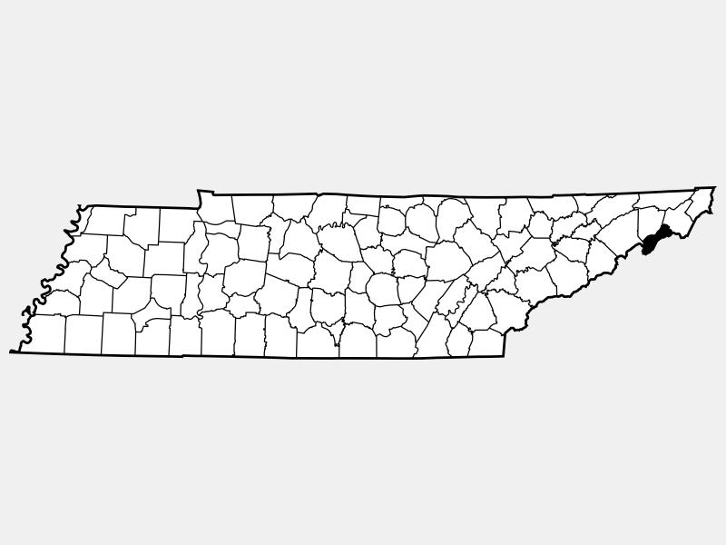 Unicoi County locator map