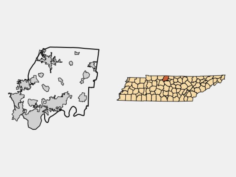 Westmoreland locator map