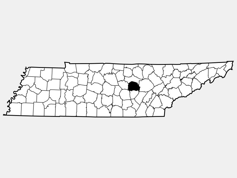 White County locator map