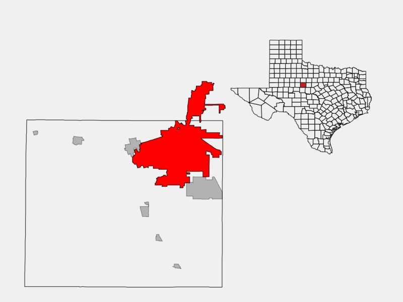 Abilene, TX locator map