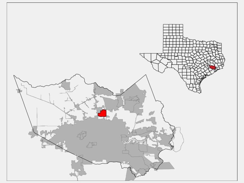 Aldine locator map