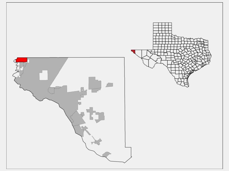 Anthony locator map