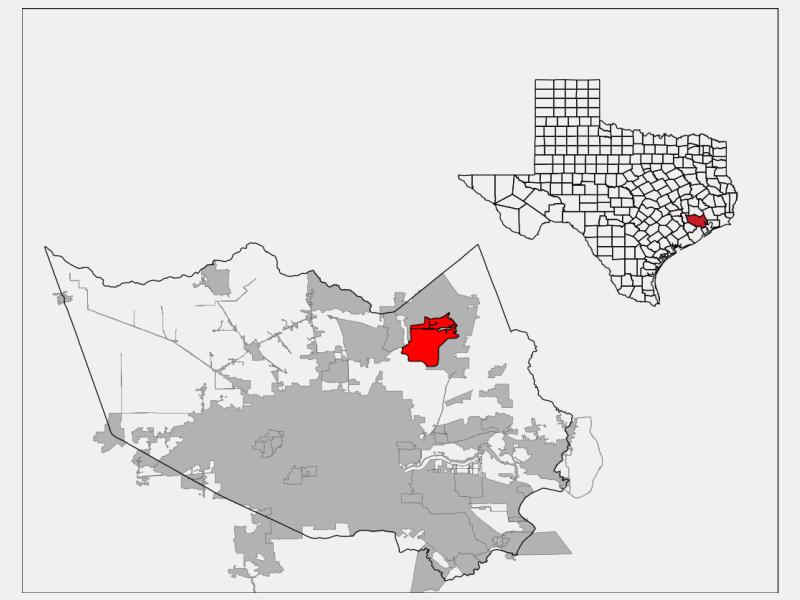 Atascocita locator map