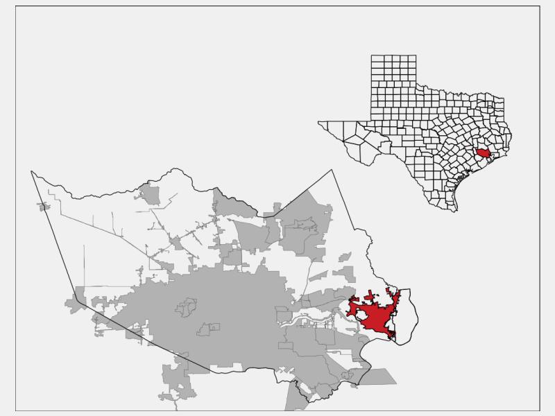 Baytown locator map
