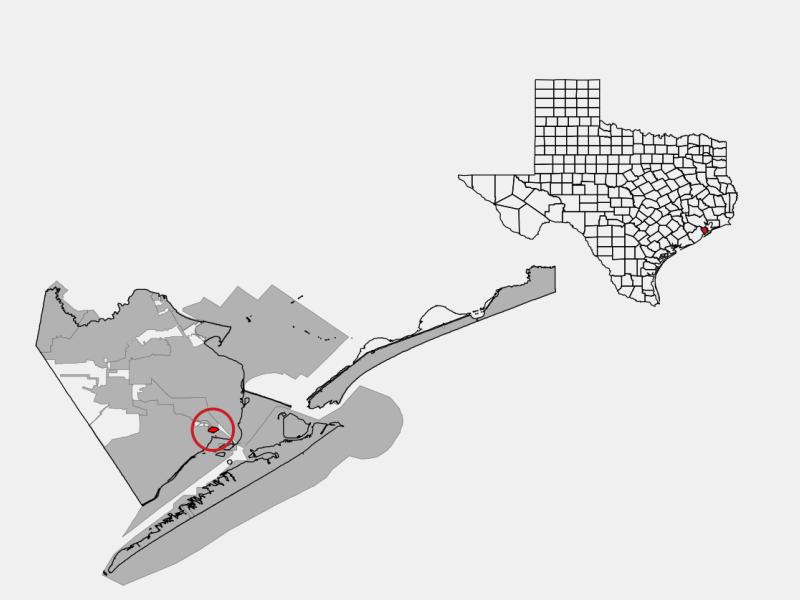 Bayou Vista locator map