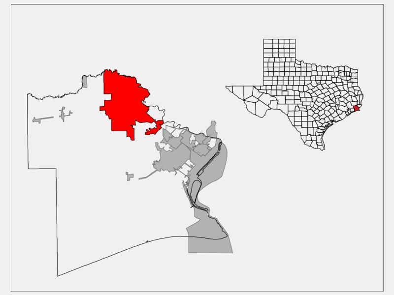 Beaumont, TX locator map