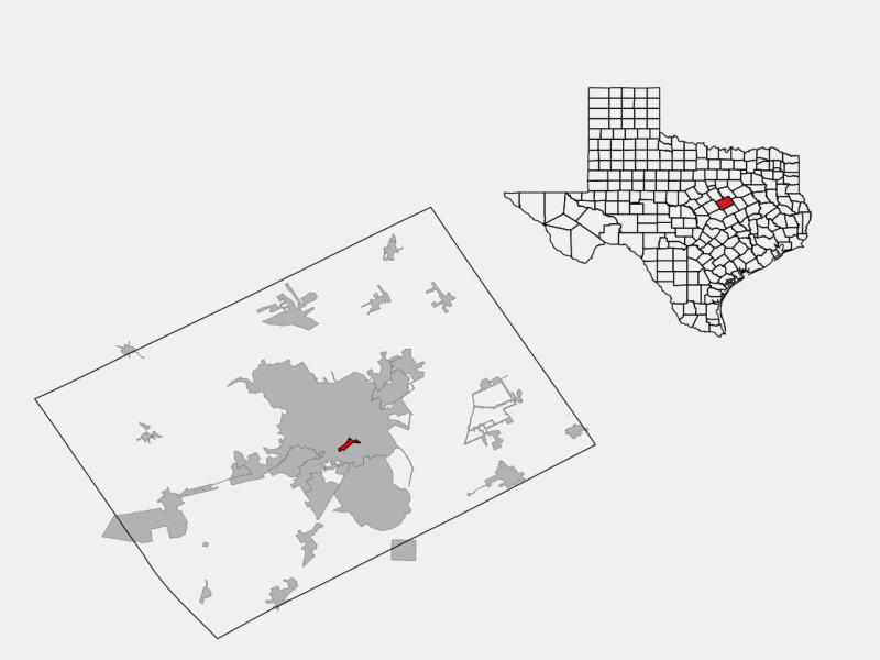 Beverly Hills locator map