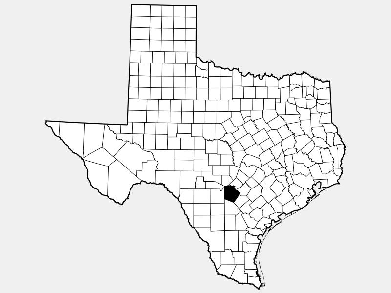 Bexar County, TX locator map