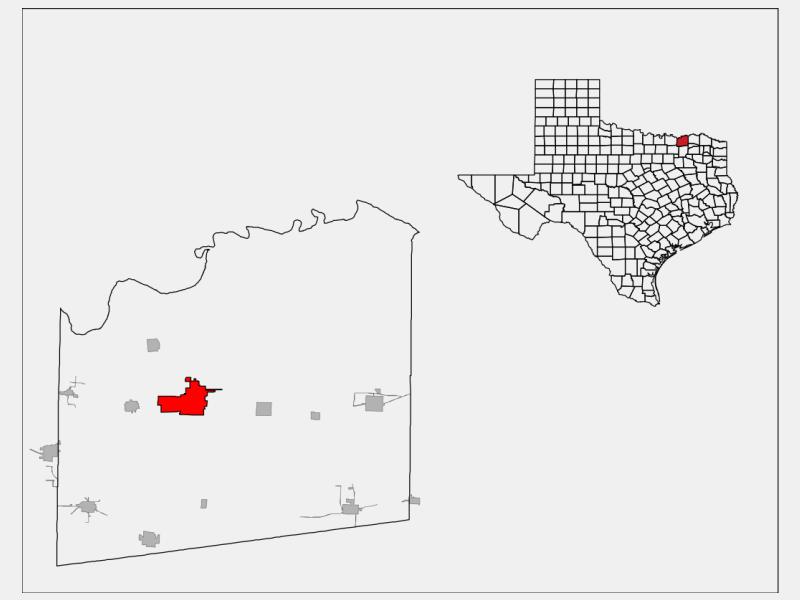 Bonham locator map