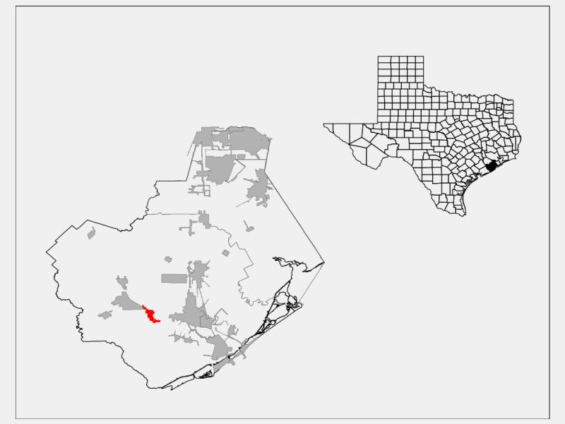 Brazoria locator map