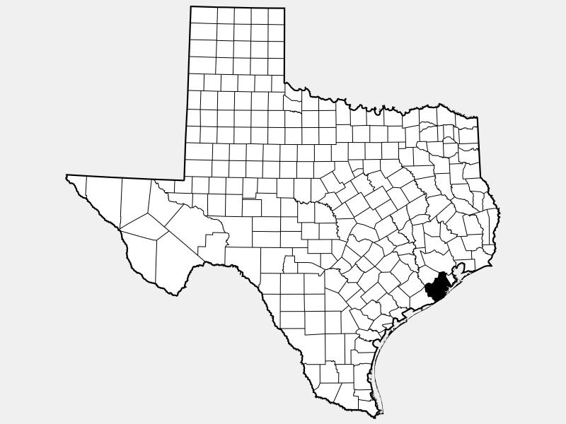 Brazoria County locator map
