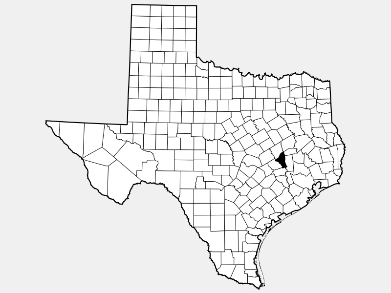 Brazos County locator map