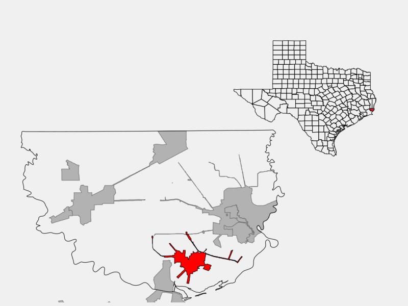 Bridge City locator map
