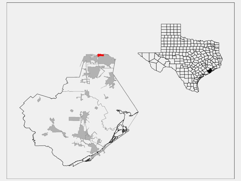 Brookside Village locator map
