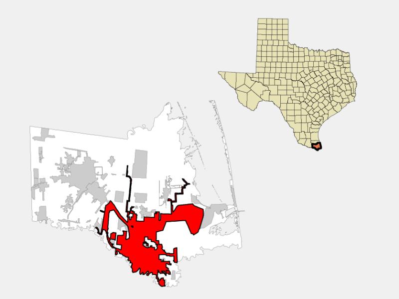 Brownsville, TX locator map