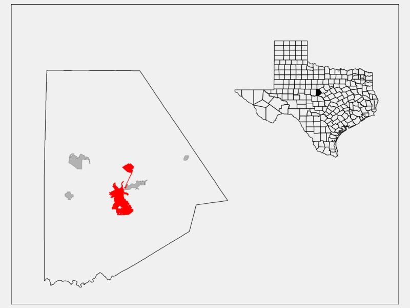 Brownwood locator map