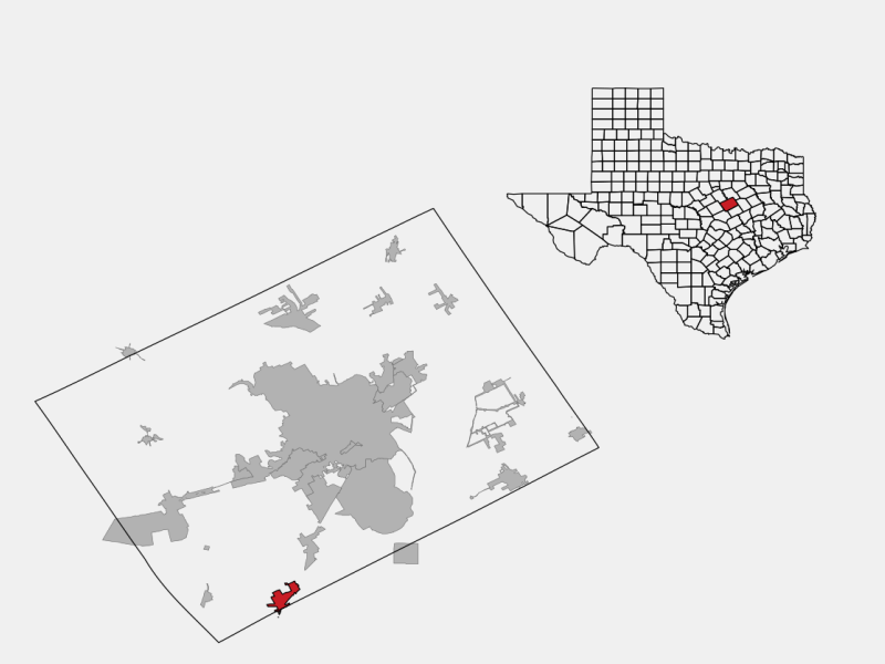 Bruceville-Eddy locator map