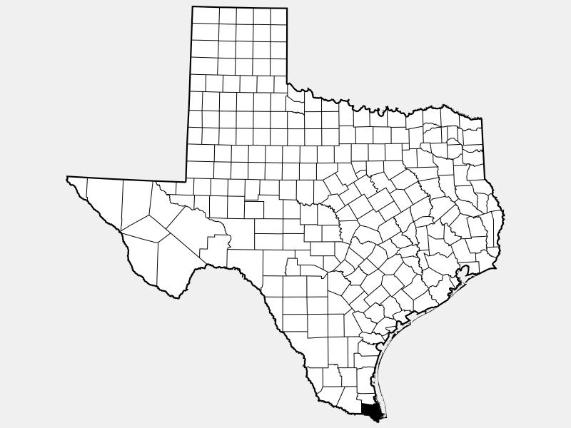 Cameron County, TX locator map